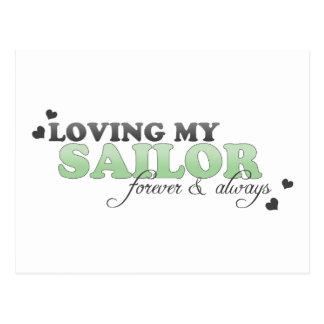 Amando a mi marinero para siempre y siempre postal