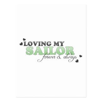 Amando a mi marinero para siempre y siempre tarjetas postales
