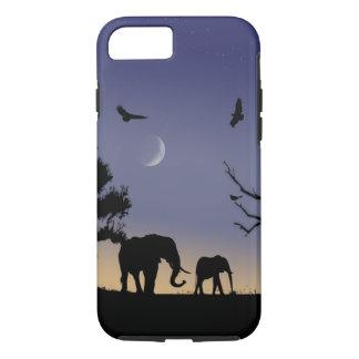 Amanecer africano - elefantes funda iPhone 7