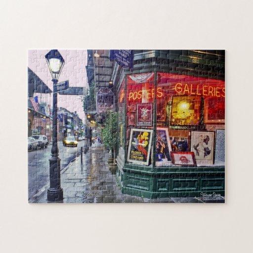 Amanecer - barrio francés - esquina de la galería rompecabezas con fotos