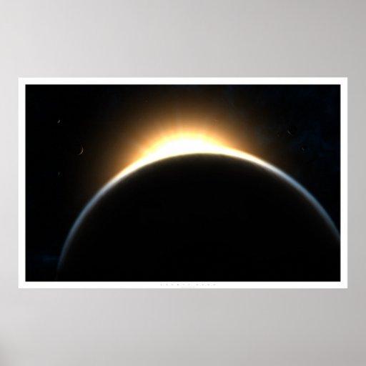 Amanecer cósmico posters