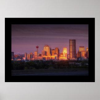 Amanecer de Calgary Póster