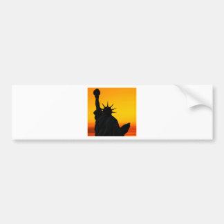 Amanecer de la libertad pegatina de parachoque
