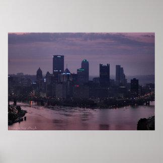 Amanecer de la púrpura de Pittsburgh Impresiones
