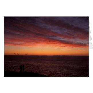 Amanecer de observación de Maine de la isla de Tarjeta De Felicitación