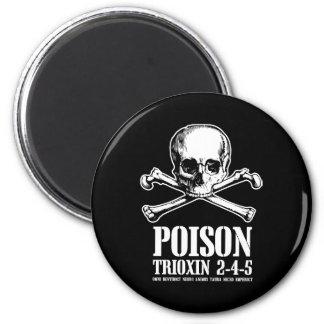 Amanecer de Trioxin 3-4-5 del zombi del veneno de  Imán Redondo 5 Cm