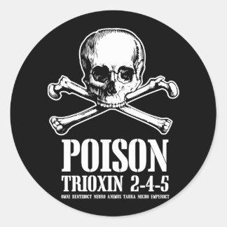 Amanecer de Trioxin 3-4-5 del zombi del veneno de Pegatina Redonda