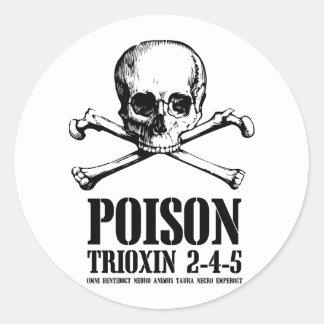 Amanecer de Trioxin 3-4-5 del zombi del veneno de Etiquetas Redondas