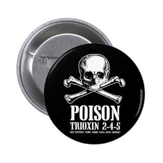 Amanecer de Trioxin 3-4-5 del zombi del veneno de  Pin Redondo De 2 Pulgadas