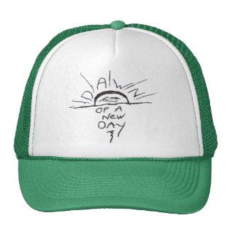 Amanecer de un nuevo gorra del camionero del día