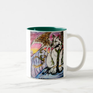 Amanecer del desierto tazas de café