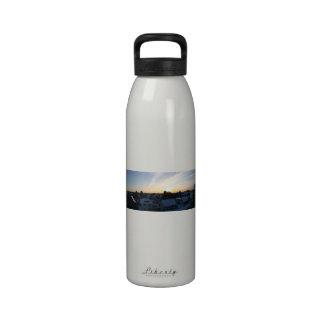 Amanecer del panorama del invierno de Leverkusen Botella De Agua Reutilizable