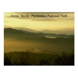 Amanecer del parque nacional de Great Smoky Mounta Postales