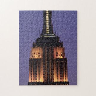 Amanecer: Empire State Building todavía encendido Puzzle