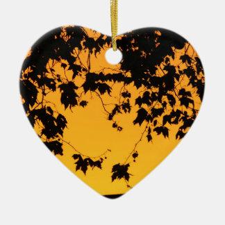 Amanecer en el camino de Highgate Adorno Navideño De Cerámica En Forma De Corazón