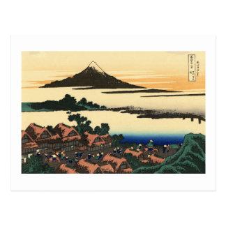 Amanecer en Isawa en la provincia de Kai Tarjetas Postales