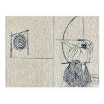 Amanecer en Isawa por Katsushika, Hokusai Postal