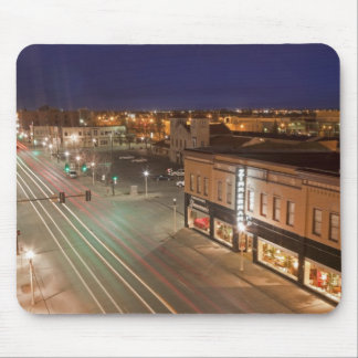 Amanecer en la calle principal de Bismarck, Dakota Tapete De Raton