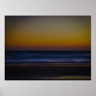 Amanecer en la playa II Posters