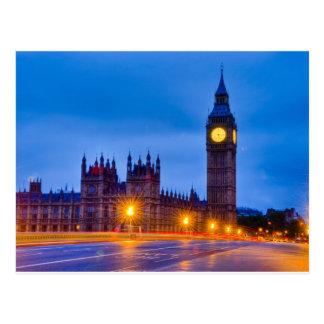 Amanecer Londres ligero Postales