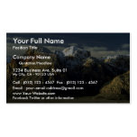 Amanecer, montaña del puente tarjeta de visita