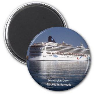 Amanecer noruego en Bermudas Imán Redondo 5 Cm