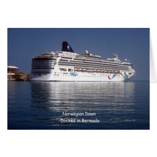 Amanecer noruego en Bermudas Tarjeta De Felicitación