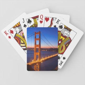 Amanecer sobre el puente de San Francisco y del Go Cartas De Juego