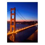 Amanecer sobre el puente de San Francisco y del Go Postales