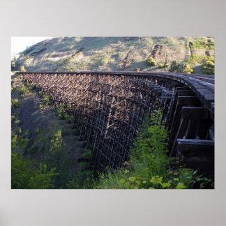 Amanecer Sun, puente 22, ferrocarril de la pradera Posters