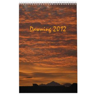 amaneciendo 2012 calendarios de pared