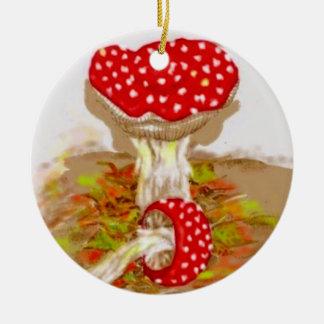 Amanita Muscaria by S Ambrose Ceramic Ornament