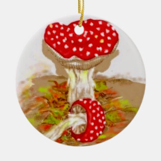 Amanita Muscaria by S Ambrose Christmas Ornaments