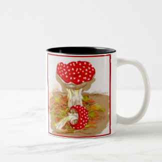 Amanita Muscaria by S Ambrose Two-Tone Coffee Mug