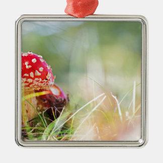 Amanita muscaria metal ornament