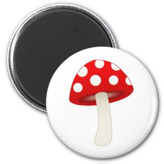 Amanita Muscaria Mushroom Love 2 Inch Round Magnet