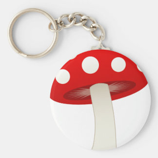 Amanita Muscaria Mushroom Love Keychain