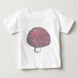 Amanita Mushroom Fungus Shroom Baby T-Shirt