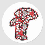 Amanita Round Sticker