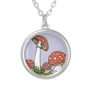 Amanitas Silver Plated Necklace