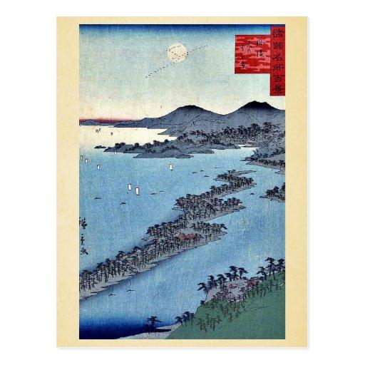 Amanohashidate por Utagawa, Hiroshige Postales