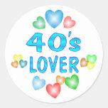 amante 40s pegatina redonda