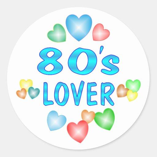 amante 80s pegatina redonda