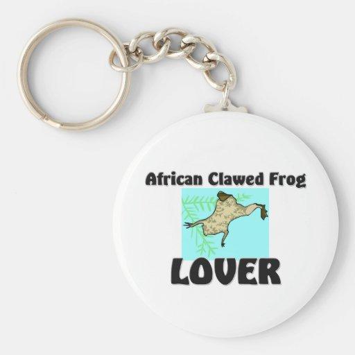 Amante agarrado africano de la rana llaveros