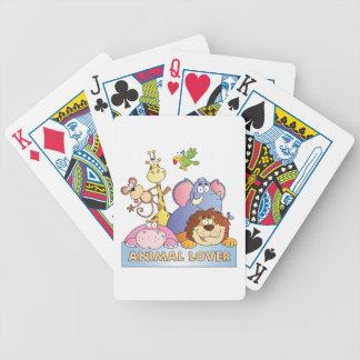 Amante animal baraja cartas de poker