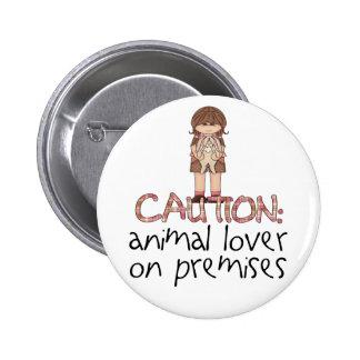 Amante animal en premisas pin