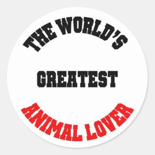 Amante animal etiqueta redonda