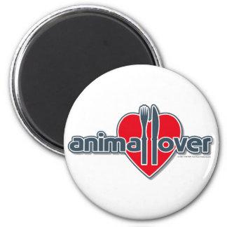 Amante animal imán redondo 5 cm