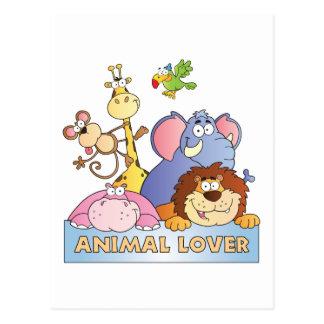 Amante animal tarjeta postal