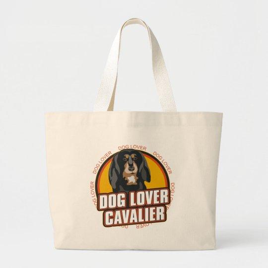 Amante arrogante del perro bolsa de tela grande